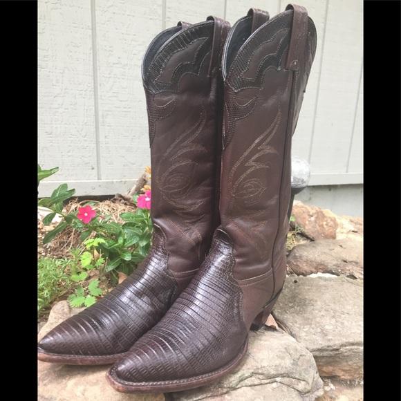 cc88803d7e8 Vintage Tony Lama SnakeSkin Boots